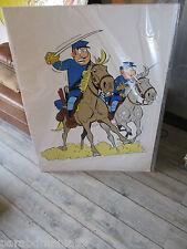 Vente Lambil-Cauvin-Grande déco cartonnée-Tuniques bleues-Introuvable(1995)