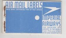 IMPERIAL AIRWAYS - AIR MAIL LABELS COMPLETE BOOKLET -RARE