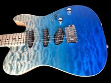 2018 TOM ANDERSON HOLLOW T QUILT TOP w TREMOLO ~ BORA BLUE SURF w BINDING