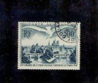 """FRANCE STAMP TIMBRE POSTE AERIENNE 20  """" 500F U.P.U. PARIS 1947 """" OBLITERE TTB"""