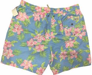 New Polo Ralph Lauren Men's Swim Shorts Trunk 2XLT Hawaiian Floral
