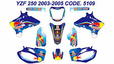 5109 YAMAHA YZF250 YZF450 2003 2004 2005 DECALS STICKERS GRAPHICS KIT
