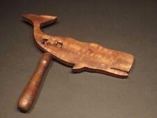 Vintage Antique Style Wood Rattle Figural Whale Noisemaker