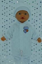 "Play n Wear Doll Clothes For 13"" Little Baby Born WHITE STRETCH AND GROW~HAT"