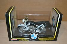 1/10 Scale 1960 BMW R60-2 Motorcycle Diecast Model Bike - TootsieToy 3305 White