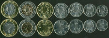 BOTSWANA SET OF 7 COINS 5 10 25 50 THEBE 1 2 5 POLA 2013 UNC
