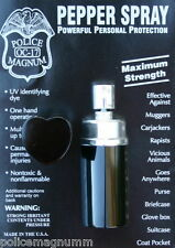 Police Magnum .75oz Black Heart Lipstick Pepper Spray Self Defense Protection
