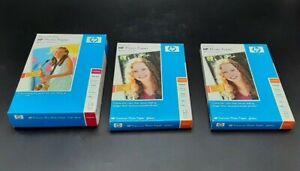 "LN Lot of 1 HP Premium Plus Photo Paper Q5431A & 2 HP Q1989A 4"" x 6"" Sheets READ"