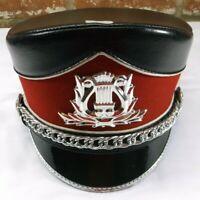 Demoulin Red & Black Marching Band Major Majorette Uniform Hat - Sz Extra Small