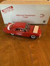 R21 Danbury Mint 1960 Ford Thunderbird 1:24 Red COA Factory Flawed