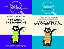 MANDY MORTON _ FELINE DETECTIVE CAT SERIES 2 BK SET _  BRAND NEW _  FREEPOST UK