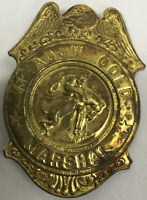 Vintage Meadow Gold Marshal Toy Tin Badge Premium Promo Grammes Allentown, PA
