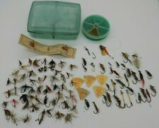Huge Vintage Lot Fly Fishing Lures Trout Flies Some Hand Tied & 2 Cases Japan Uk