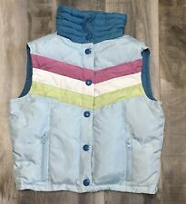 Hollister Retro Feather Down Puffer Vest Womens Juniors Size L Large