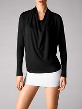 Wolford Cool Wool Shirt m black neu