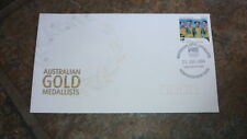 2004 AUSTRALIAN OLYMPIC GOLD MEDAL STAMP FDC, CYCLING PURSUIT TEAM NEWCASTLE PM