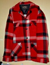 Great looking 1950's wool and mohair canadian camper coat Bell shirt co.- 48 !