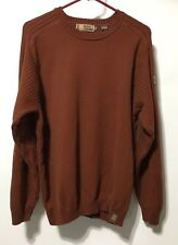 GH BASS Earth Mens Pullover Large Brown Sweater
