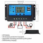 10A 20A 30A 12V/24V Solar Panel Charger Controller Battery Regulator USB LCD SS