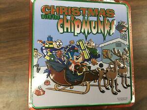 Christmas with the Chipmunks vol 1 & 2 Collectors Tin Box Free Stocking CD Set
