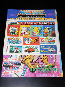RARE VINTAGE ITALIAN MASTERS OF UNIVERSE COMIC MAGAZINE w/ STICKERS Sept 1986 #6