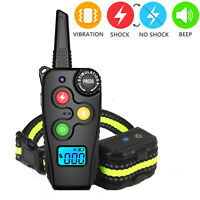 Dog Shock Training Collar Rechargeable Remote Control Waterproof IP67 1600FT