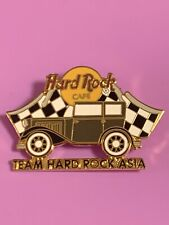 HARD ROCK CAFE TEAM ASIA OLD MODEL CAR PIN CHECKERED FLAGS