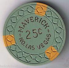 Maverick .25 Casino Chip North Las Vegas Nevada 1960