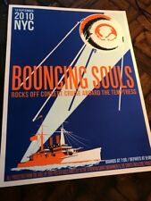 2010 Bouncing Souls concert Silkscreen Poster cruise Rocks Off Show Nyc
