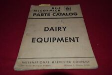 International Harvester Dairy Equipment Parts Book Manual BWPA