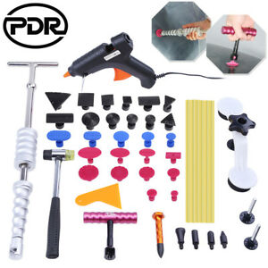 Paintless Dent Removal Puller Lifter PDR Tools T Bar Hammer Hail Repair Glue Gun