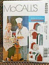 McCalls 2233 Chef Unisex Sz 50-52 Uniform Essentials: Apron, Jacket, Hat, Pants