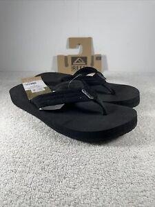 Reef Cushion Breeze Collection Women Flip Flops Black/Black RF-001454 Size 8