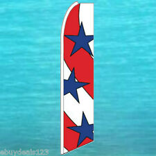 PATRIOTIC STARS + STRIPES FLUTTER FEATHER FLAG USA American Swooper Bow Banner