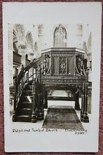 Vintage Pulpit and Tomb of Bruce Dunfermline Abbey Photograph Postcard Scotland