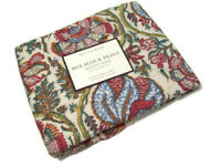 Pottery Barn Multi Colors Mia Block Print Quilted Standard Pillow Cover Sham New