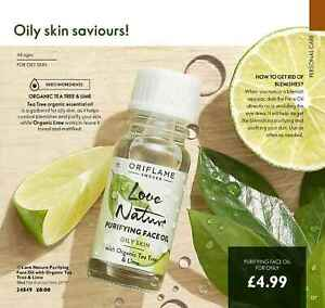 Oriflame Love Nature Purifying Face Oil with Organic Tea Tree & Lime