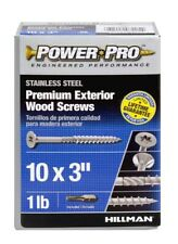 """The Hillman Group 48623 Power Pro Exterior All Purpose Screw, 10"""" x 3"""""""