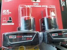 Milwaukee M12 12-Volt Lithium-Ion XC Extended Capacity Battery 48-11-2412 Sealed