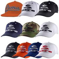 Puma Cobra Mens Pro Tour Cap New Golf Flat Bill Curved Peak Flexfit Baseball Hat