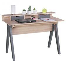 FineBuy bureau table 120cm de bureau design Sonoma chêne/gris table d'ordinateur