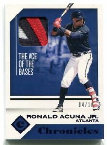 2018 Panini Chronicles Swatches Purple RA Ronald Acuna Jr. Rookie Patch 4/10