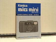 Konica Big Mini Zoom BM-520 Z Bedienungsanleitung Instructions Manual