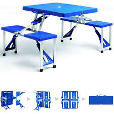 Campingtisch klappbar Alu Koffertisch Sitzgruppe Picknick Tisch Campingmöbel Set