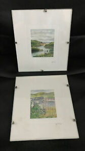 2 Small Pictures~ Irish Images By Maeve O'Connor, Made in Ireland Circa 1991