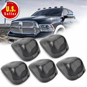 5 Cab Marker lights Covers Smoke for Ford F150 F250  F450 F550 Pickup Truck