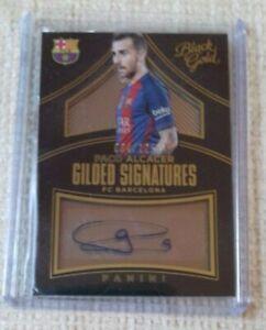 Panini Paco Alcacer FC Barcelona auto card 084/125