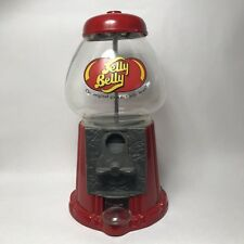 Large Red Jelly Belly Bean Gumball Machine Dispenser Glass Metal Coin Bank Vend