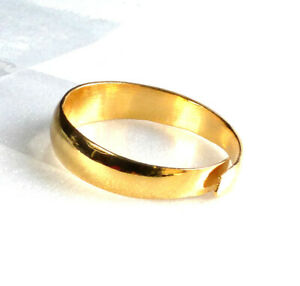 Unisex 24K Yellow Gold Plated Vintage Ring Open Free Size L M N O P Q R S T U V