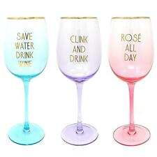 Stemmed Wine Glasses Novelty Coloured Party Cocktail Glass Gift Boxed